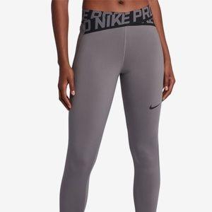 Grey and black nike pro Capri leggings